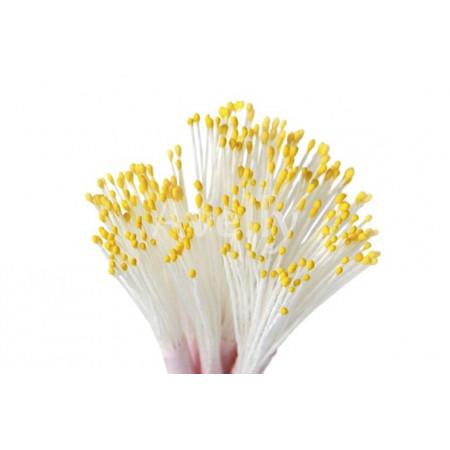 Тычинки для цветов темно-желтые 500 шт
