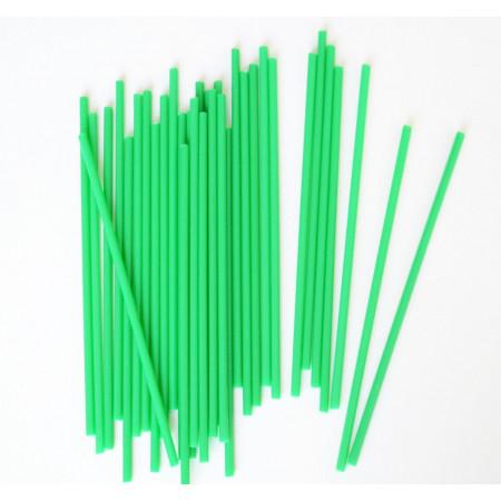 Палочки для кейк-попсов 15 см 50шт зеленые