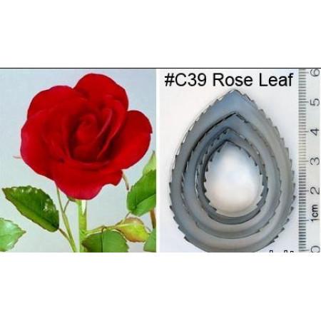"""Набор выемок """"Листья розы С39"""", 4 выемки"""
