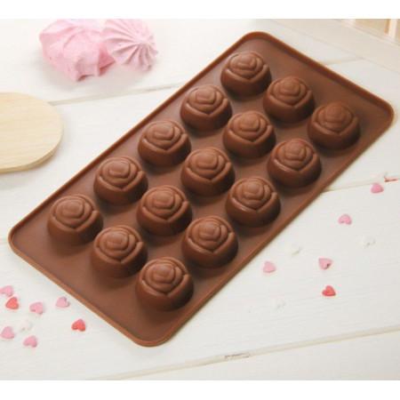 """Форма для шоколада """"Розы"""", 15 ячеек"""