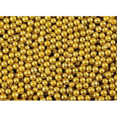 Посыпка шарики золотые 3 мм 50 грамм