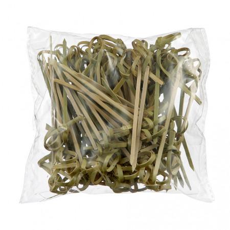 Пика бамбуковая Завиток 9 см 100шт