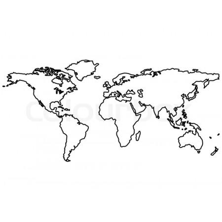 """Трафарет """"Континенты"""""""