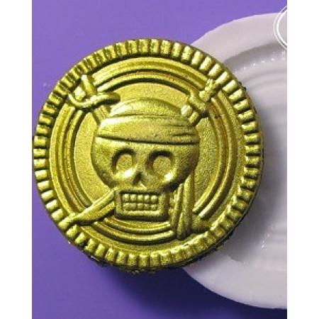 """Молд """"Пиратская монета"""" диаметр 3,4см"""