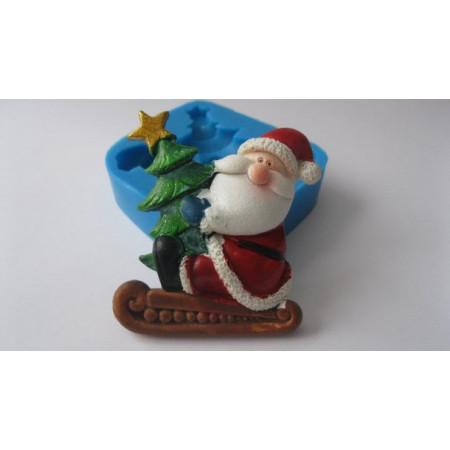 "Молд ""Санта с ёлкой"" 6,1*5,3см"