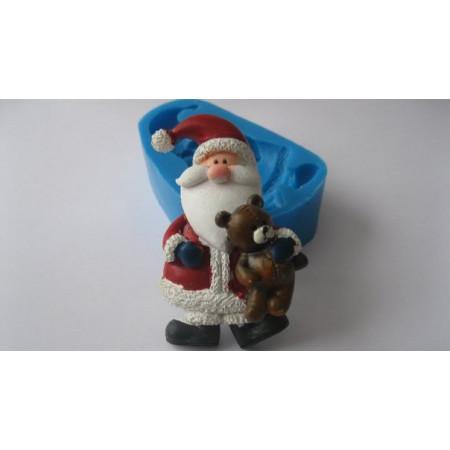 "Молд ""Санта с медвежонком"" 6,6*4см"