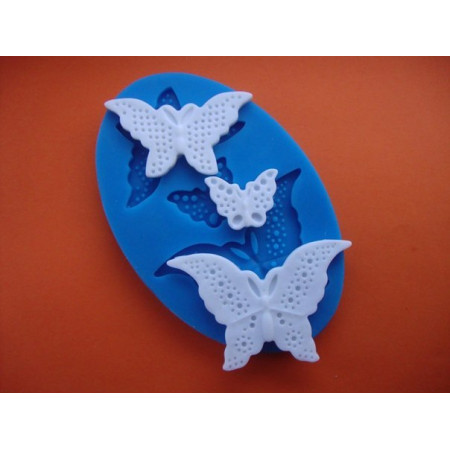 "Молд ""3 Бабочки №2"" Размеры 6,4 см 5*2,8 см 2,5*1,9 см"
