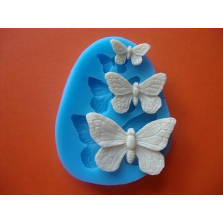 """Молд """"3 Бабочки №1"""" 4,4*2,8см 2,9*1,9см 1,9*1см"""