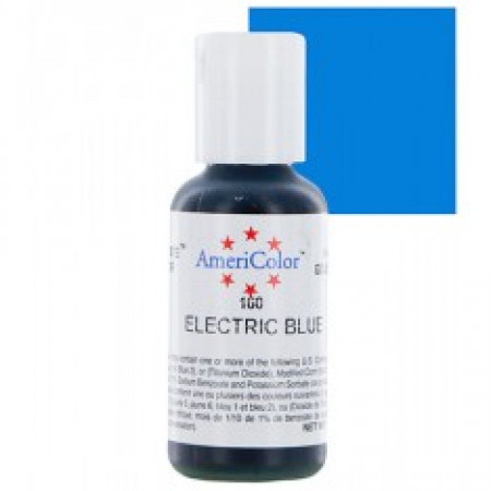 """Гелевый краситель """"Electric blue"""" (электрик-голубой) """"Americolor"""""""