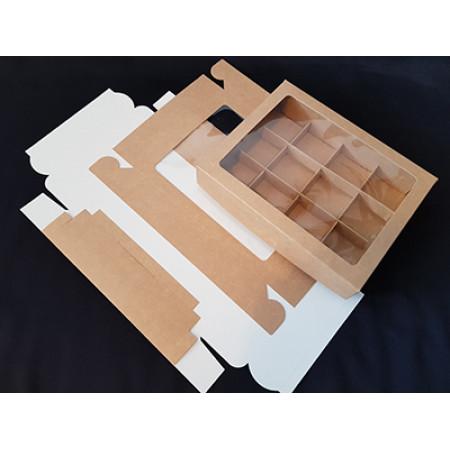 Коробка для конфет 12 шт 230*180*42 крафт