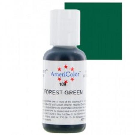 "Гелевый краситель ""Forest green"" (зеленый лес) ""Americolor"""