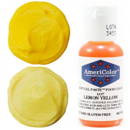 """Гелевый краситель """"Lemon yellow"""" (лимонный) """"Americolor"""""""