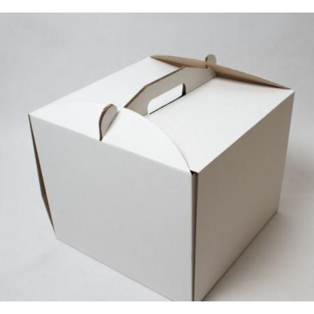 Коробка для торта 40*40*30 см с ручкой