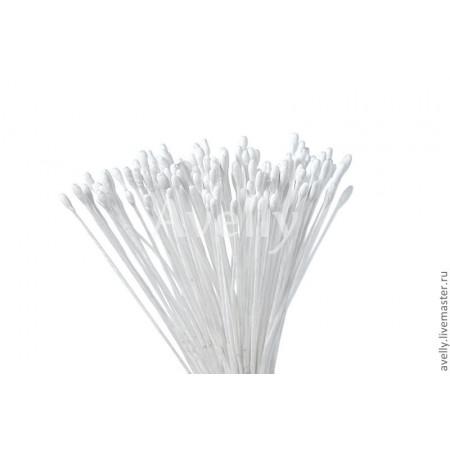 Тычинки для цветов, белые средние, 500 шт