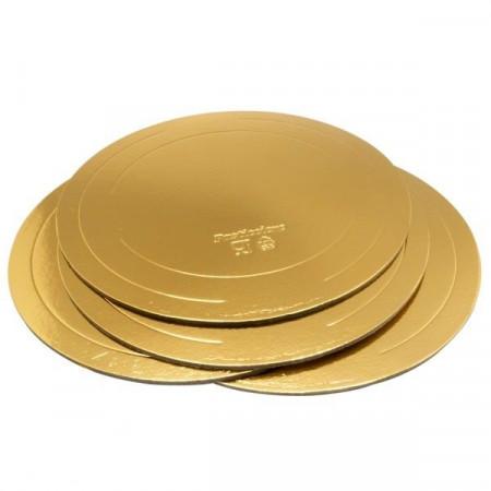 Подложка д.220 мм толщина 3,2 мм золото/жемчуг