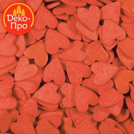 """Посыпки """"Сердечки красные большие"""" 50 грамм"""