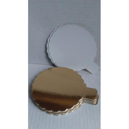 Подложка картонная золото 0,8мм д.110мм (ромашка)