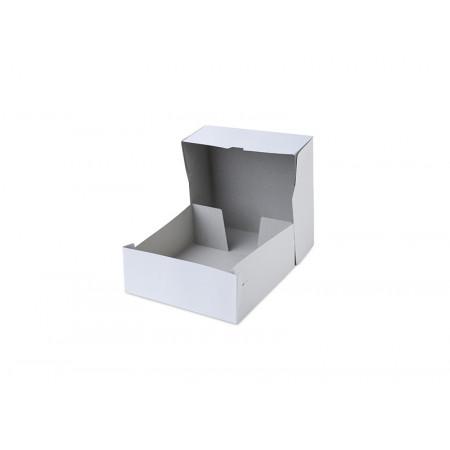 Коробка для торта 28,5*28,5*6 см белая