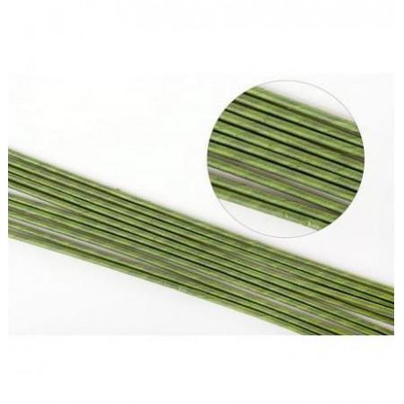 Проволока для цветов №16 в бумажной обмотке зеленая,толщина 3мм, длина 40 см, 10 шт