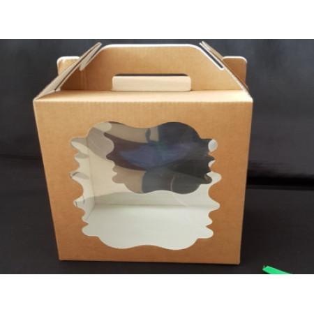 Коробка для кулича и пряничного домика 18*18*22 см крафт
