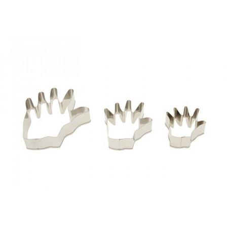 """Набор форм для вырезания печенья """"Рука"""", 3 шт."""