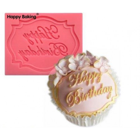 "Молд ""Happy birthday"" на капкейк"