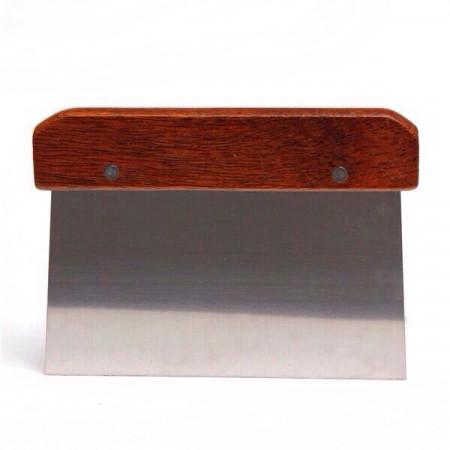 Шпатель-скребок деревянная ручка 13,5×10 см