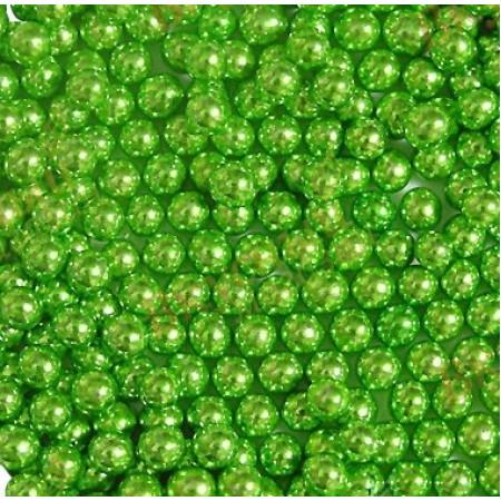 Посыпка шарики зеленые 5мм 50 грамм