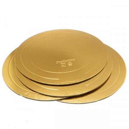 Подложка д.260 мм толщина 3,2 мм золото/жемчуг