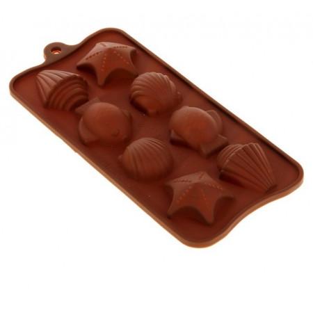 Форма для льда и шоколада «Морской берег» 19×10 см 8 ячеек 3,2×3,5 см