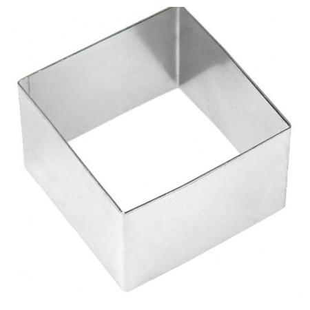 Форма для выкладки нержавеющая сталь квадрат 5*5*3,5 см