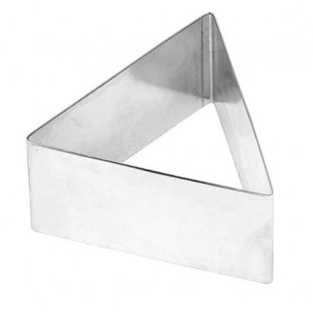 Форма для выкладки нержавеющая сталь треугольник 6,5*3,5 см