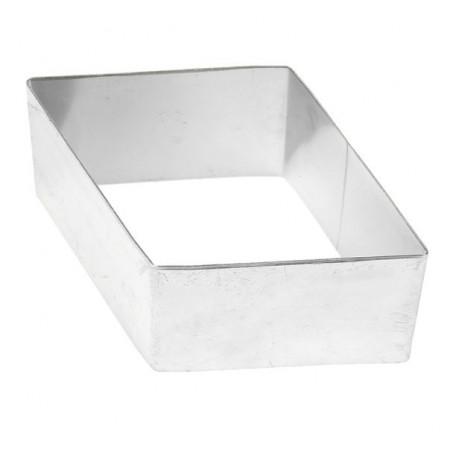 Форма для выкладки нержавеющая сталь ромб 8*5*3,5 см