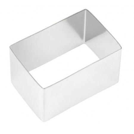 Форма для выкладки нержавеющая сталь прямоугольник 6*4*3,5 см