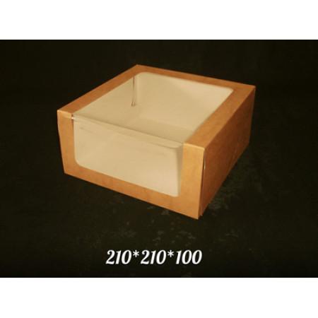 """Упаковка """"Стандарт"""" 210*210*100 с окном"""