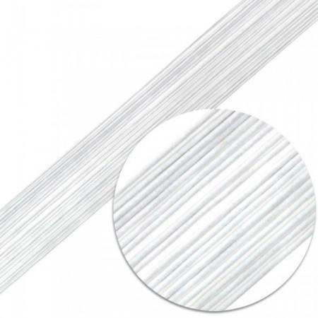 Проволока для цветов №18 в бумажной обмотке белая, 50 см, 10 шт