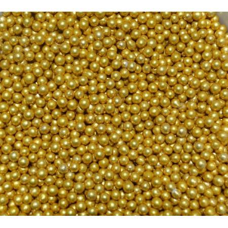 Посыпка шарики золотые 4 мм 50 грамм