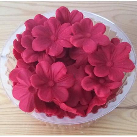 """Украшение для торта """"Цветочки темно-красные"""" 70 грамм"""