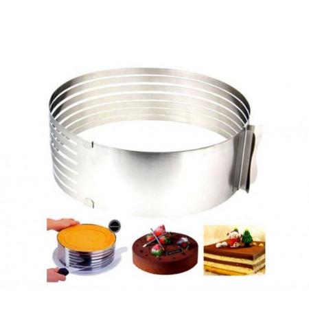 Кольцо регулируемое для нарезки бисквитов 16-20 см