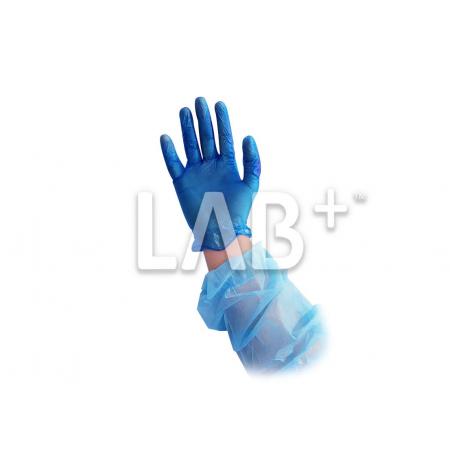 Перчатки виниловые неопудренные синие М ПОШТУЧНО