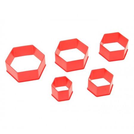 Набор форм для печенья из 5 штук Шестиугольник