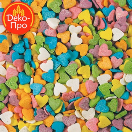 """Посыпки """"Сердечки разноцветные"""" 50 грамм"""