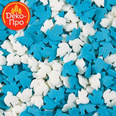 """Посыпки """"Голуби бело-голубые"""" 50 грамм"""