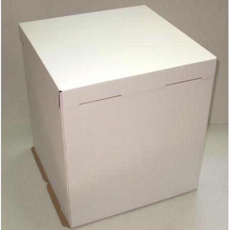 Коробка для торта 32*32*35 см белая