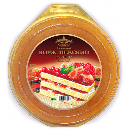 """Корж бисквитный светлый """"Невский"""""""