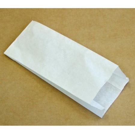 Пакет бумажный белый для конфет и печенья 9*19 см