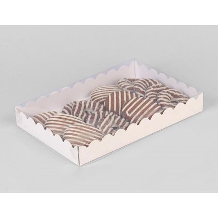 Коробочка для печенья 22 х 15 х 3 см белая
