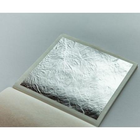 Сусальное серебро пищевое лист 90*90 мм