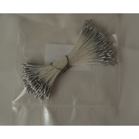 Тычинки для цветов серебро средние 280 шт