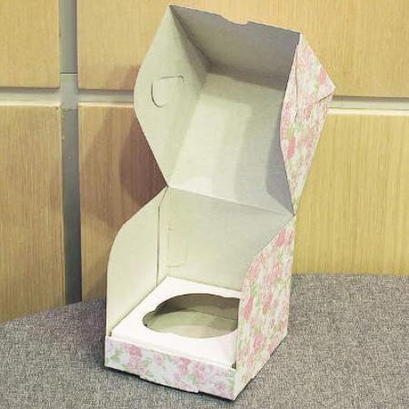 Коробка на 1 капкейк цветная